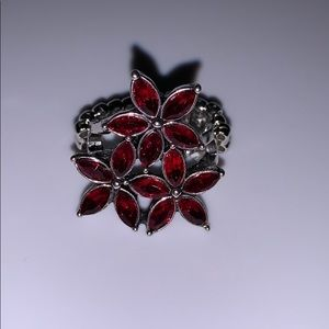 NWOT Red Flower Ring